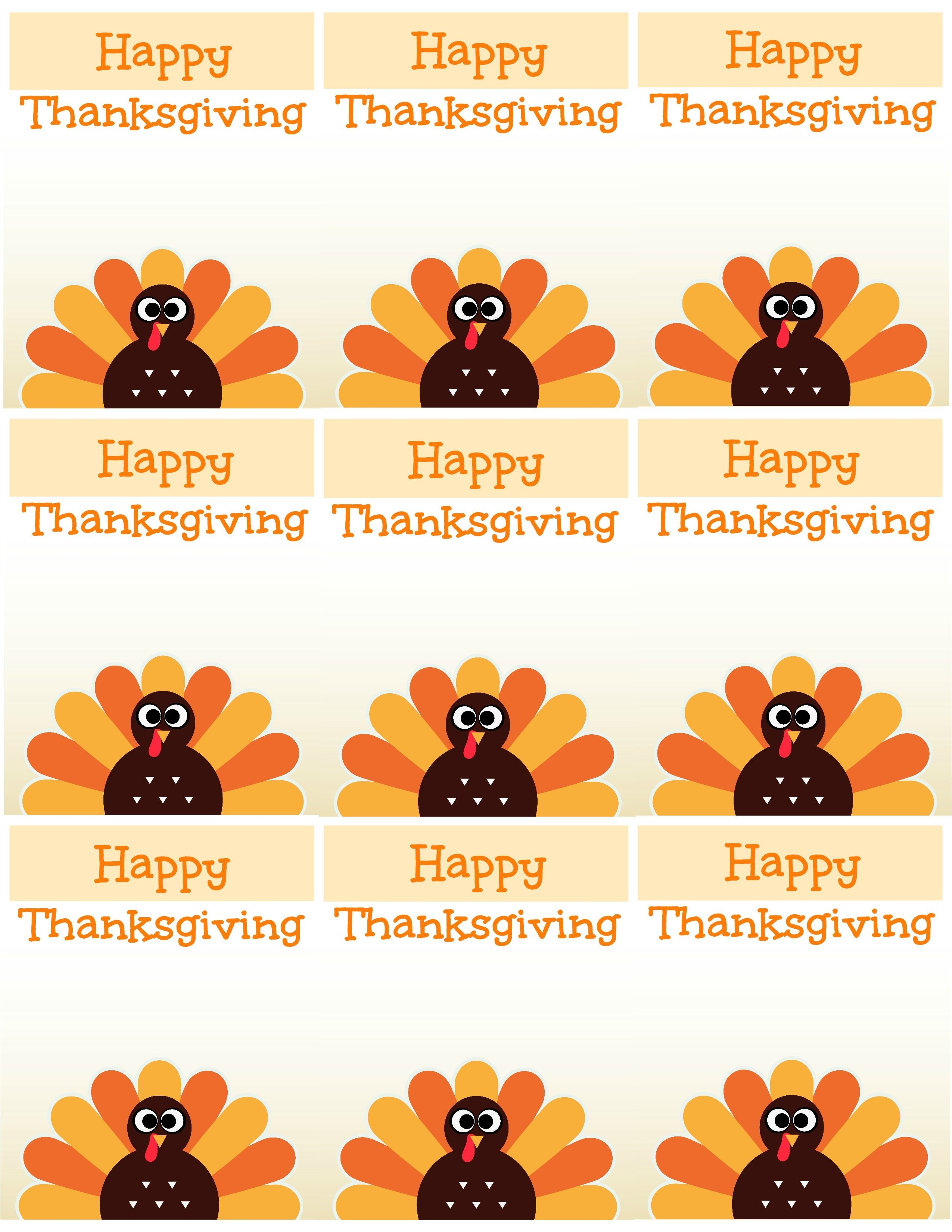 Free Printable Thanksgiving Place Cards -- Also Great For Cupcake - Free Thanksgiving Printables Place Cards