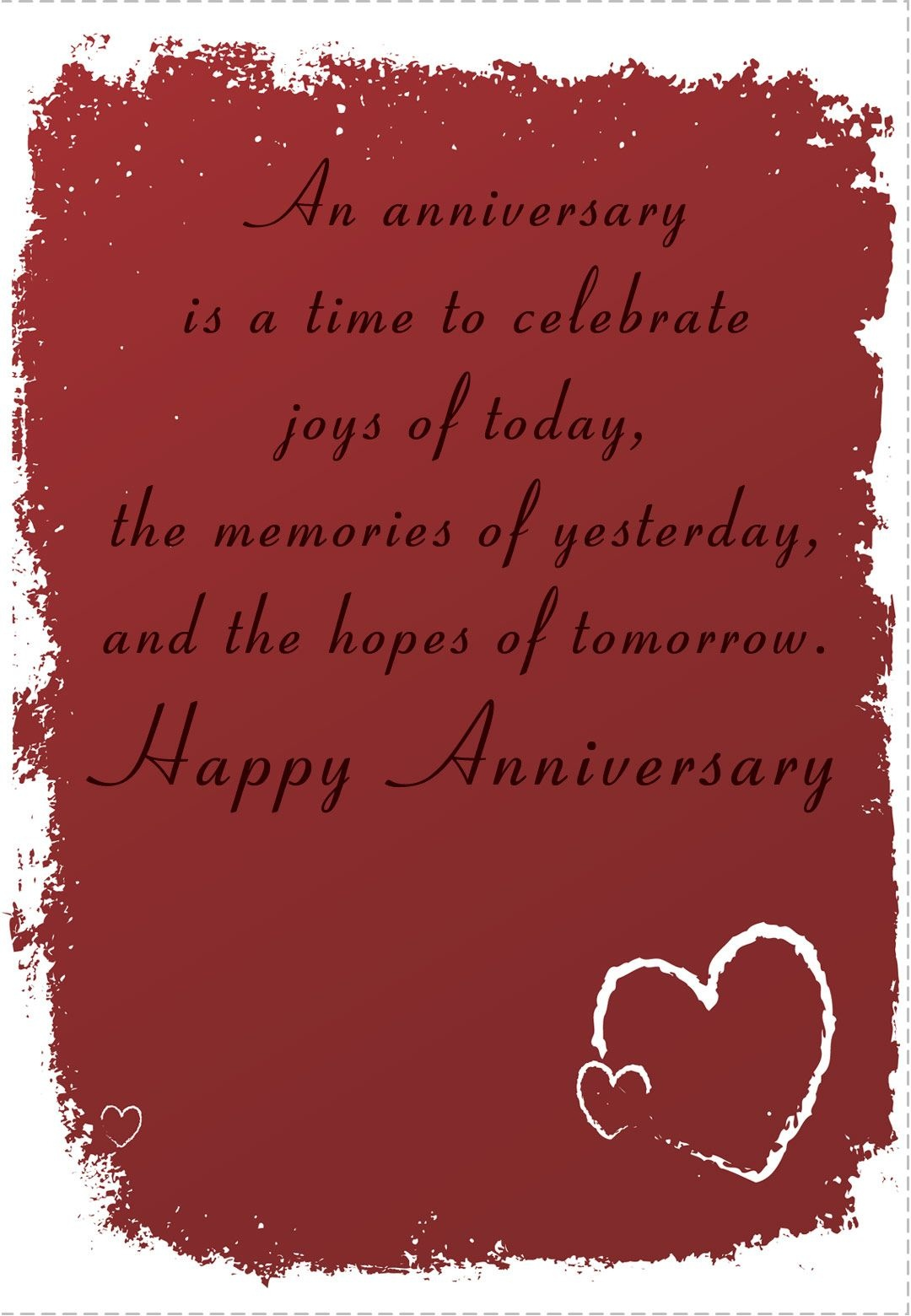 Free Printable 'time To Celebrate' Anniversary Greeting Card - Free Printable Romantic Birthday Cards For Her