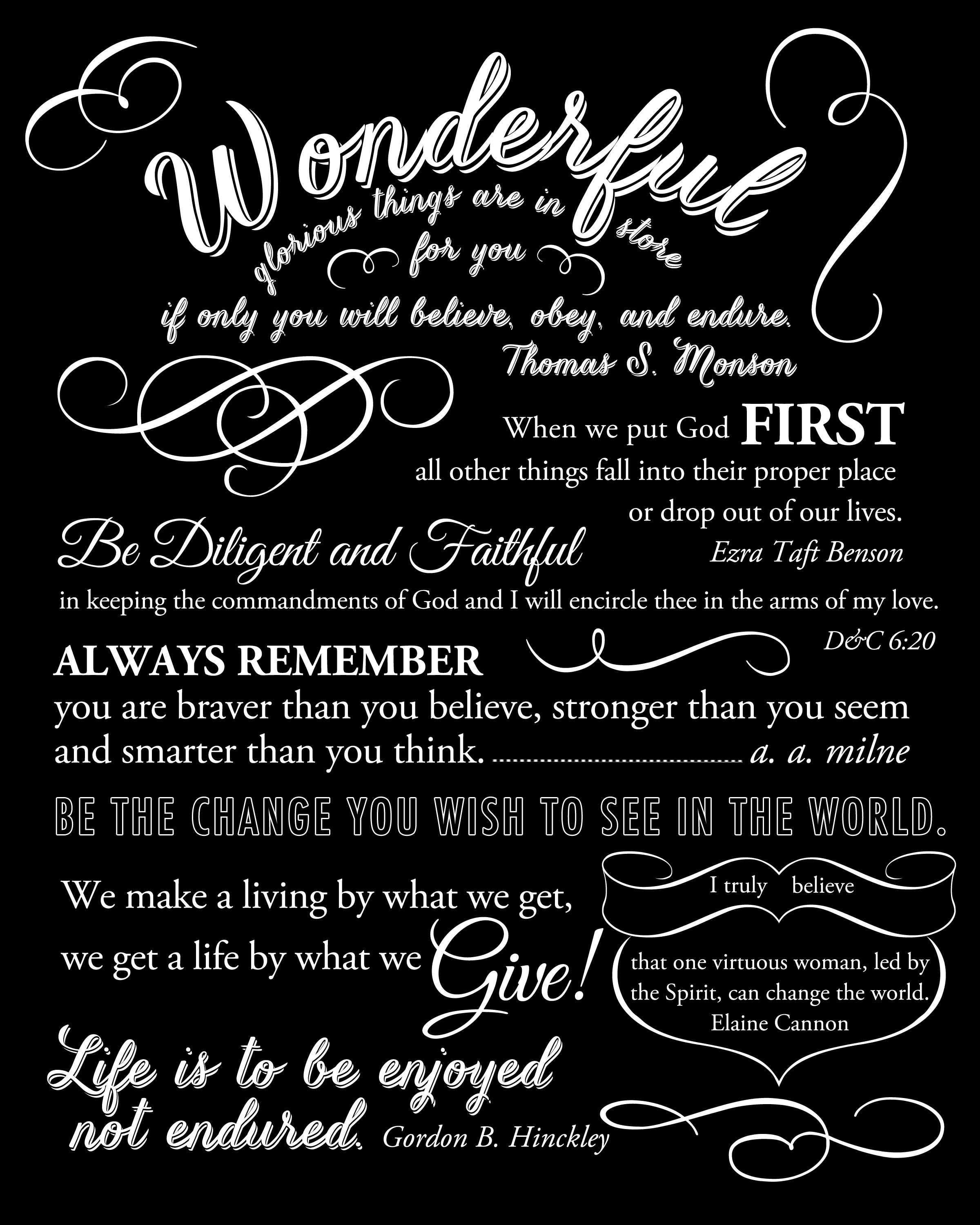 Free Printable To Give To The Young Women Who Are Graduating From - Free Printable Graduation Quotes