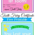 Free Printable Tooth Fairy Certificate | Tooth Fairy Ideas | Tooth   Free Tooth Fairy Printables