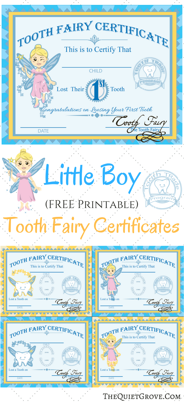 Free Printable Tooth Fairy Certificates   Kid's Boy/girl Stuff - Tooth Fairy Stationery Free Printable