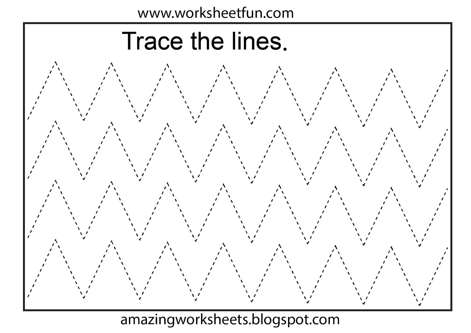 Free Printable Tracing Worksheets Preschool | Preschool Worksheets - Free Printable Activities For Preschoolers
