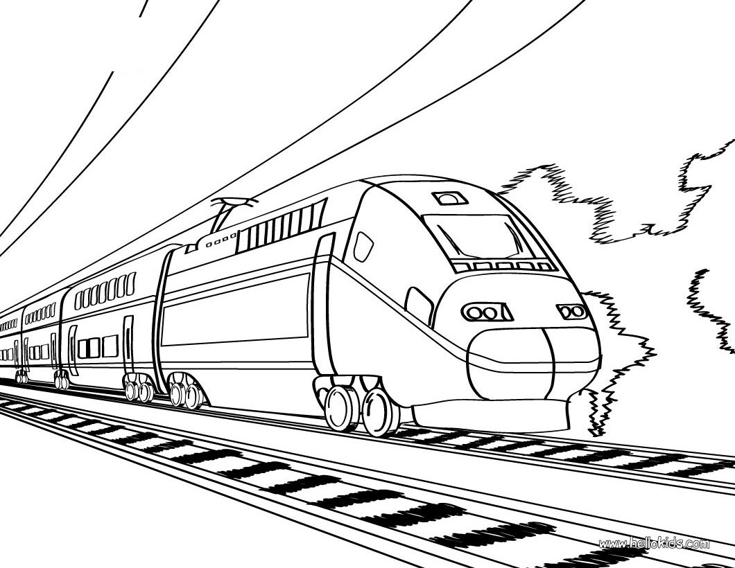 Free Printable Train Coloring Pages For Kids - Free Printable Train Pictures