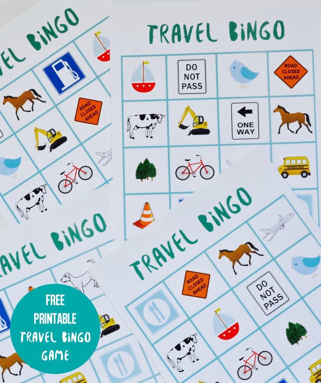 Free Printable Travel Bingo Game | Travel Tips & Ideas | Travel - Free Printable Car Bingo