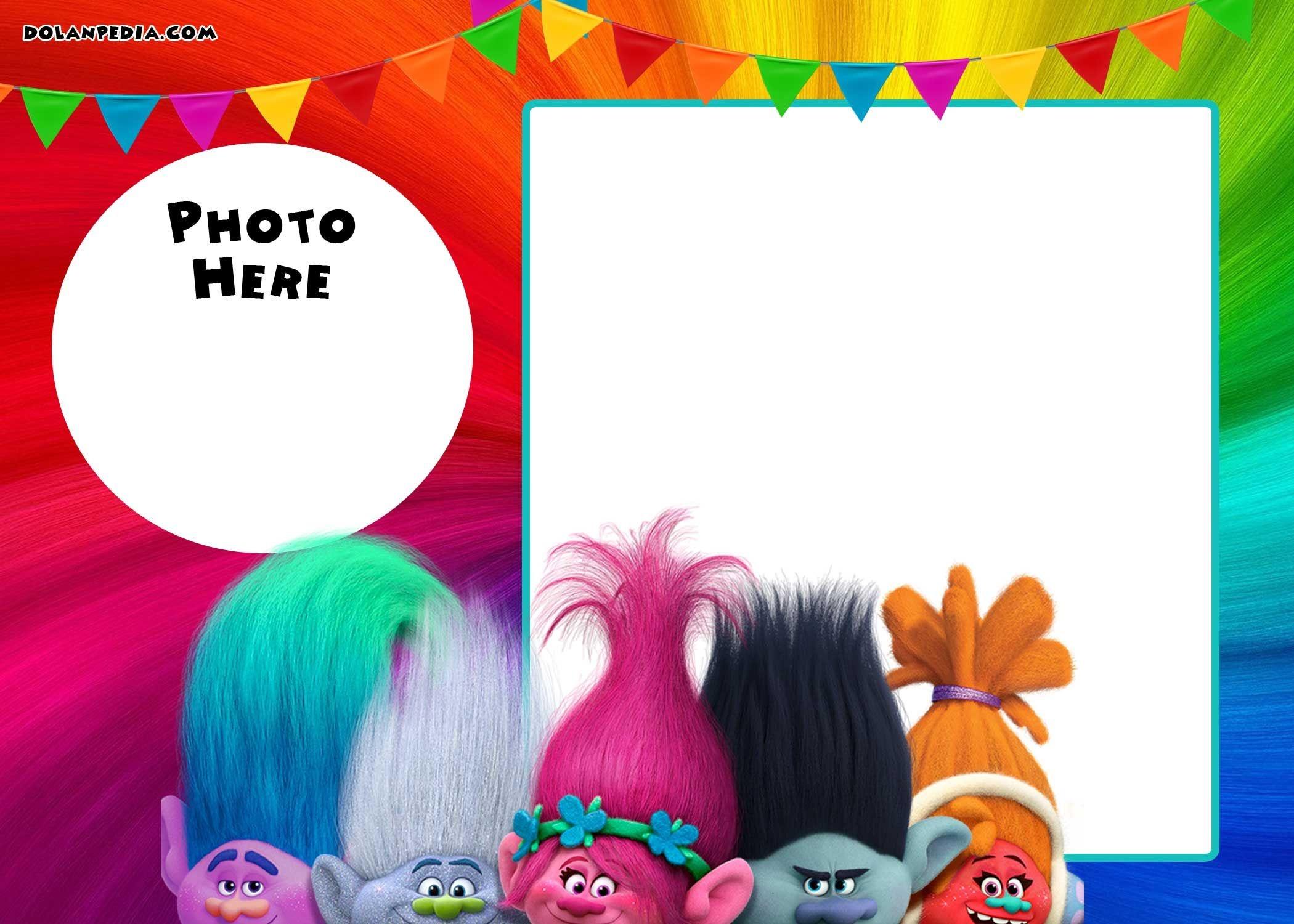 Free Printable Trolls Invitation Template | Trolls | Free Birthday - Free Printable Trolls