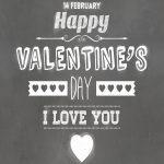 Free Printable Typography Poster   Happy Valentine's Day Chalkboard   Free Printable Typography Posters