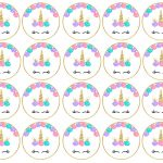 Free Printable Unicorn Cupcake Toppers   Paper Trail Design   Free Printable Unicorn Cupcake Toppers
