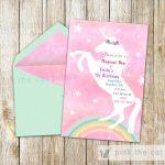 Free Printable Unicorn Invitations | Freebies | Unicorn Invitations   Free Printable Unicorn Birthday Invitations