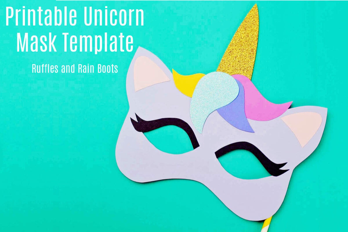 Free Printable Unicorn Mask - Coloring Page And Template - Free Printable Paper Masks