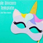 Free Printable Unicorn Mask   Coloring Page And Template   Free Printable Unicorn Mask