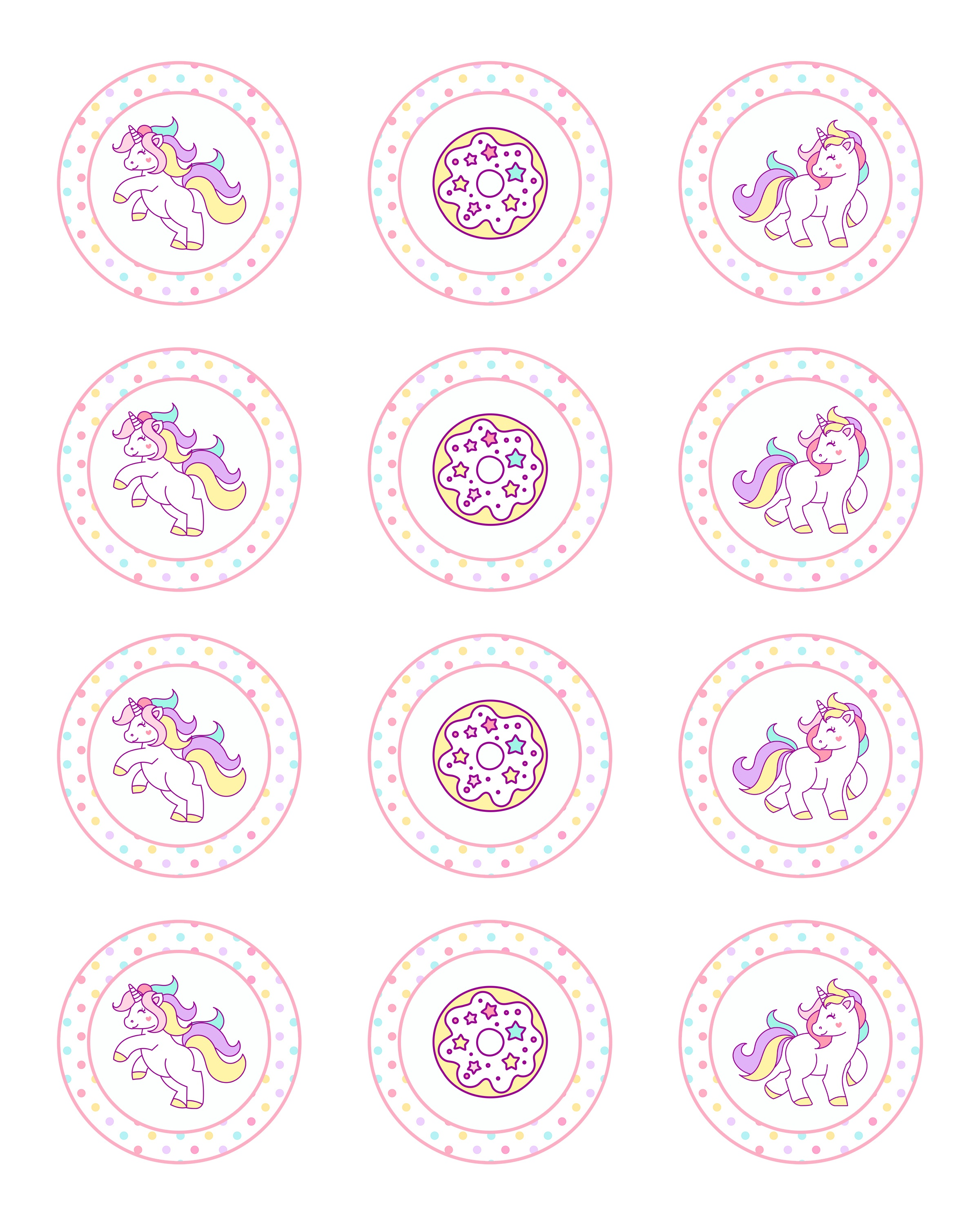 Free Printable Unicorn Party Decorations Pack - The Cottage Market - Free Printable Unicorn Cupcake Toppers
