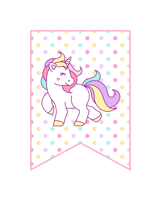 Free Printable Unicorn Party Decorations Pack - The Cottage Market - Unicorn Printable Free