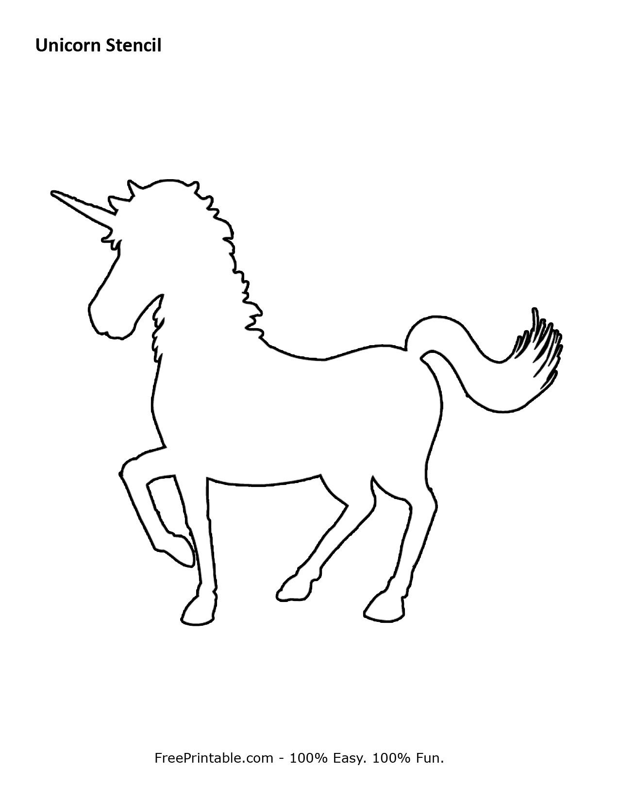Free Printable Unicorn Stencils   Crafts & Sewing   Unicorn Stencil - Free Printable Unicorn Template
