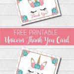 Free Printable Unicorn Thank You Cards | Addie's Wishes | Unicorn   Free Printable Mermaid Thank You Cards