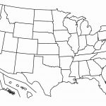 Free Printable Us Map Blank Blank Us Map Printable My Blog Printable   Free Printable Blank Map Of The United States Of America
