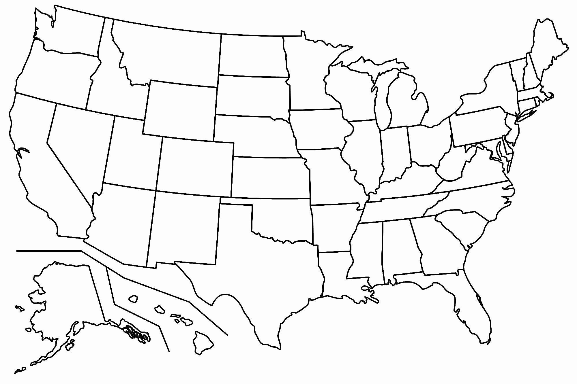 Free Printable Us Map Blank Blank Us Map Printable My Blog Printable - Free Printable Blank Map Of The United States Of America