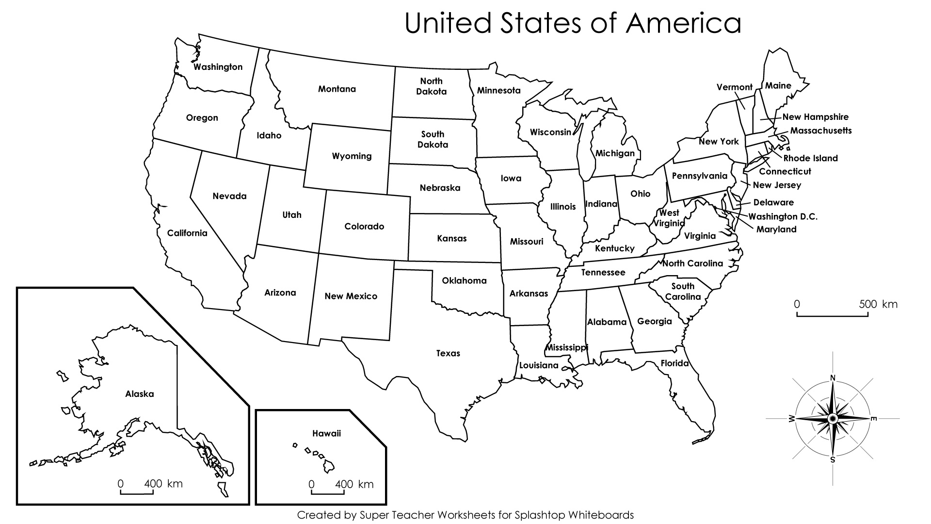 Free Printable Us Maps With State Names Usa Map And State Capitals - Free Printable Map Of United States With States Labeled