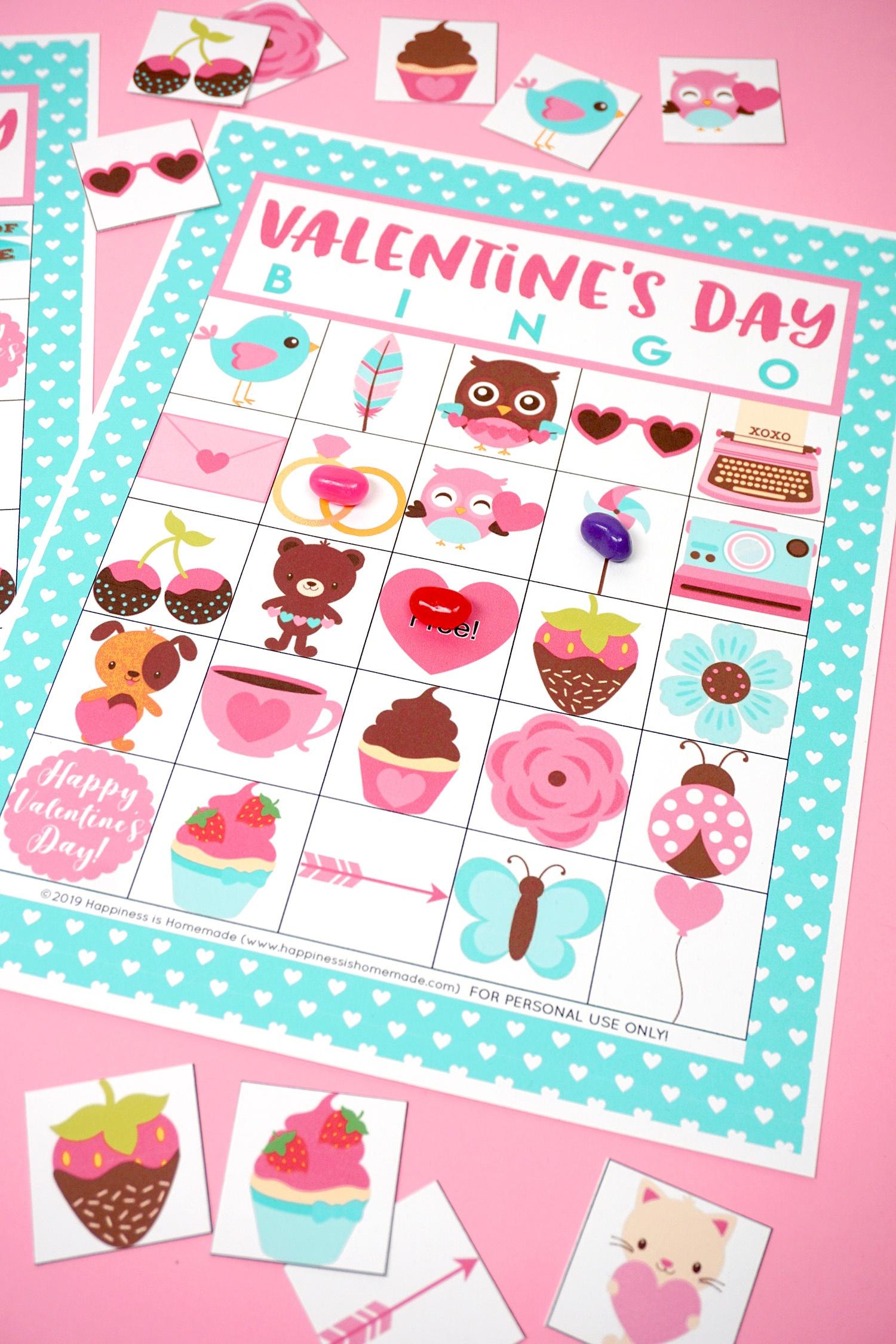 Free Printable Valentine Bingo - Happiness Is Homemade - Free Printable Valentine Game