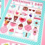 Free Printable Valentine Bingo   Happiness Is Homemade   Free Printable Valentines Bingo