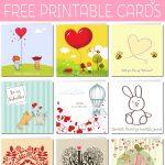 Free Printable Valentine Cards   Free Printable Cat Valentine Cards