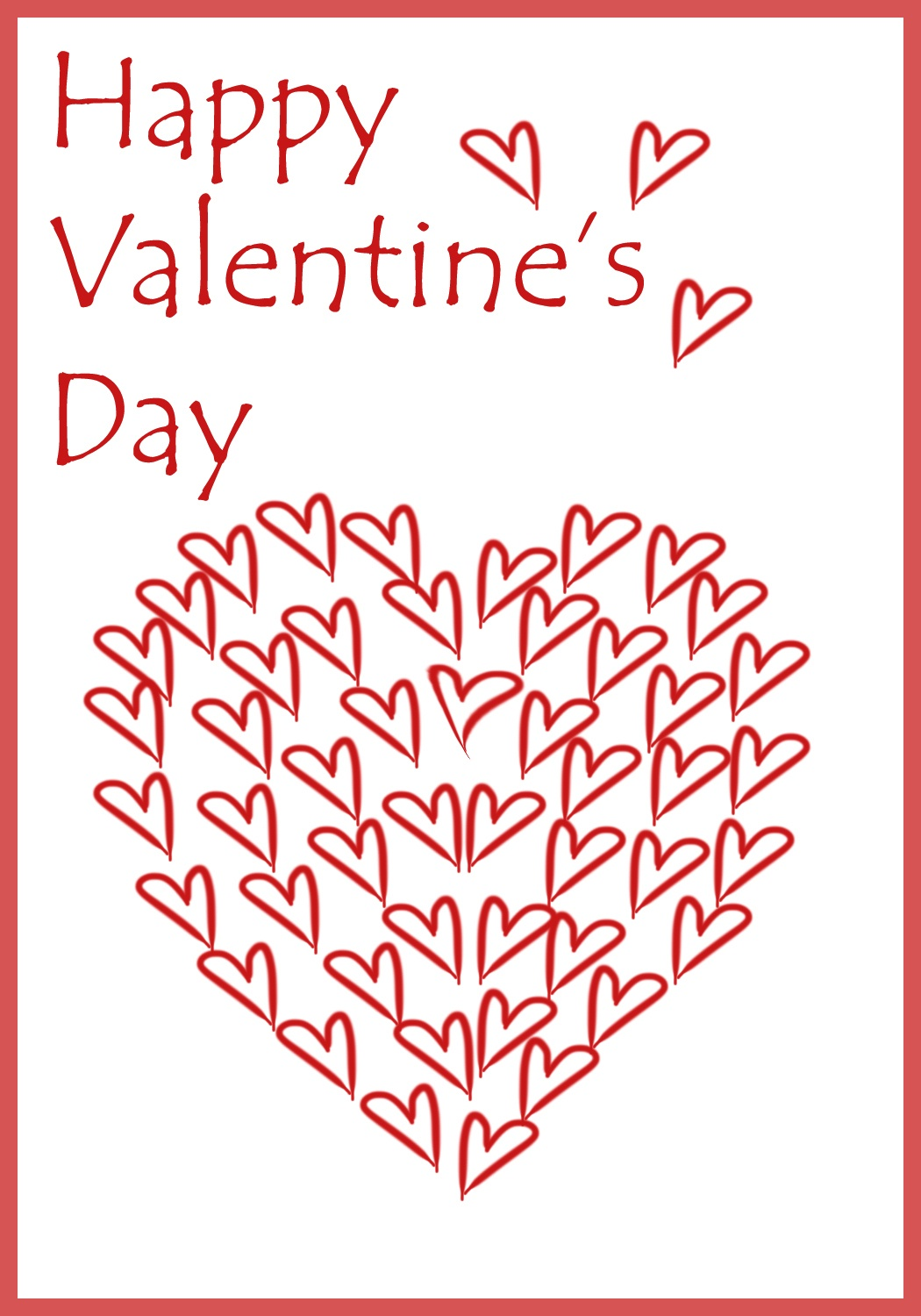 Free Printable Valentine Cards - Free Printable Personalised Cards