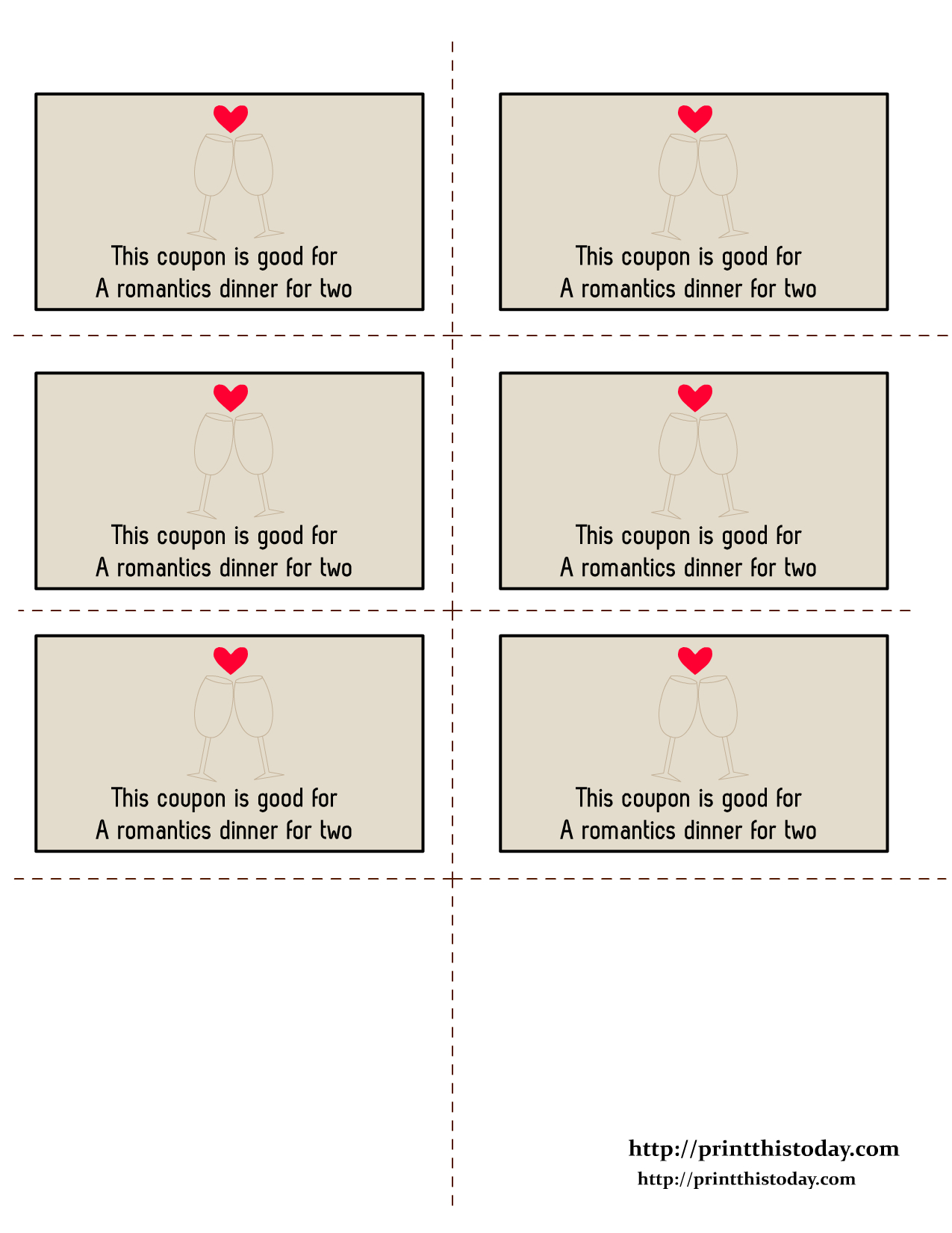 Free Printable Valentine Coupons | Free Printables | Love Coupons - Love Coupons For Him Printable Free