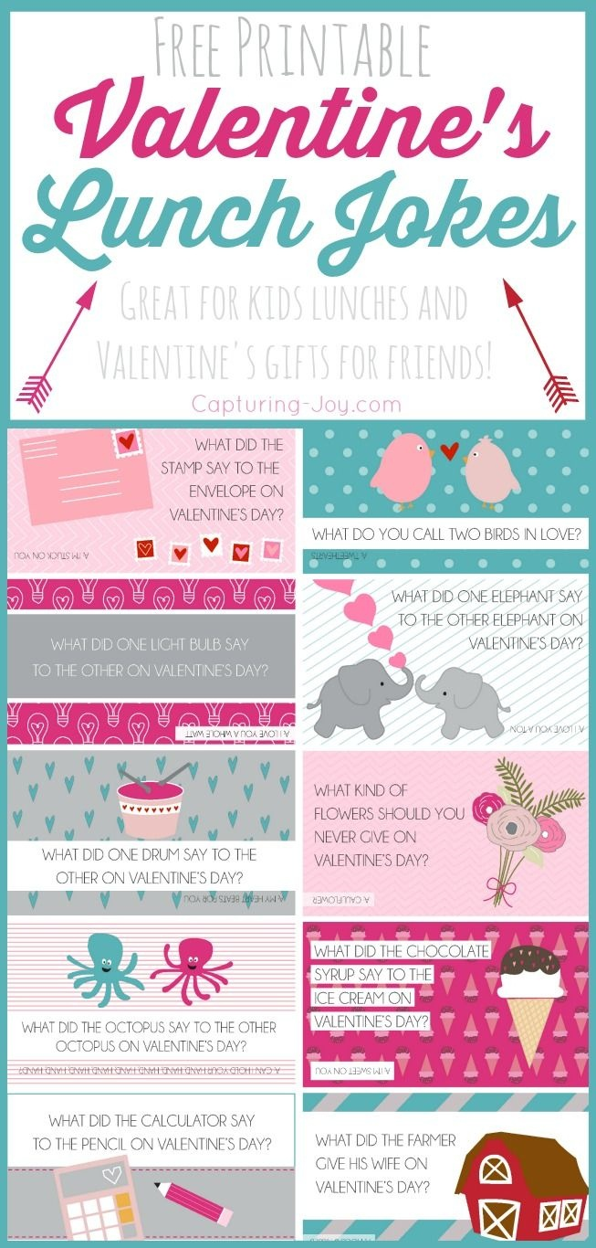 Free Printable Valentine Jokes | All Time Favorite Crafts & Diy - Free Printable Valentines Day Cards For My Daughter