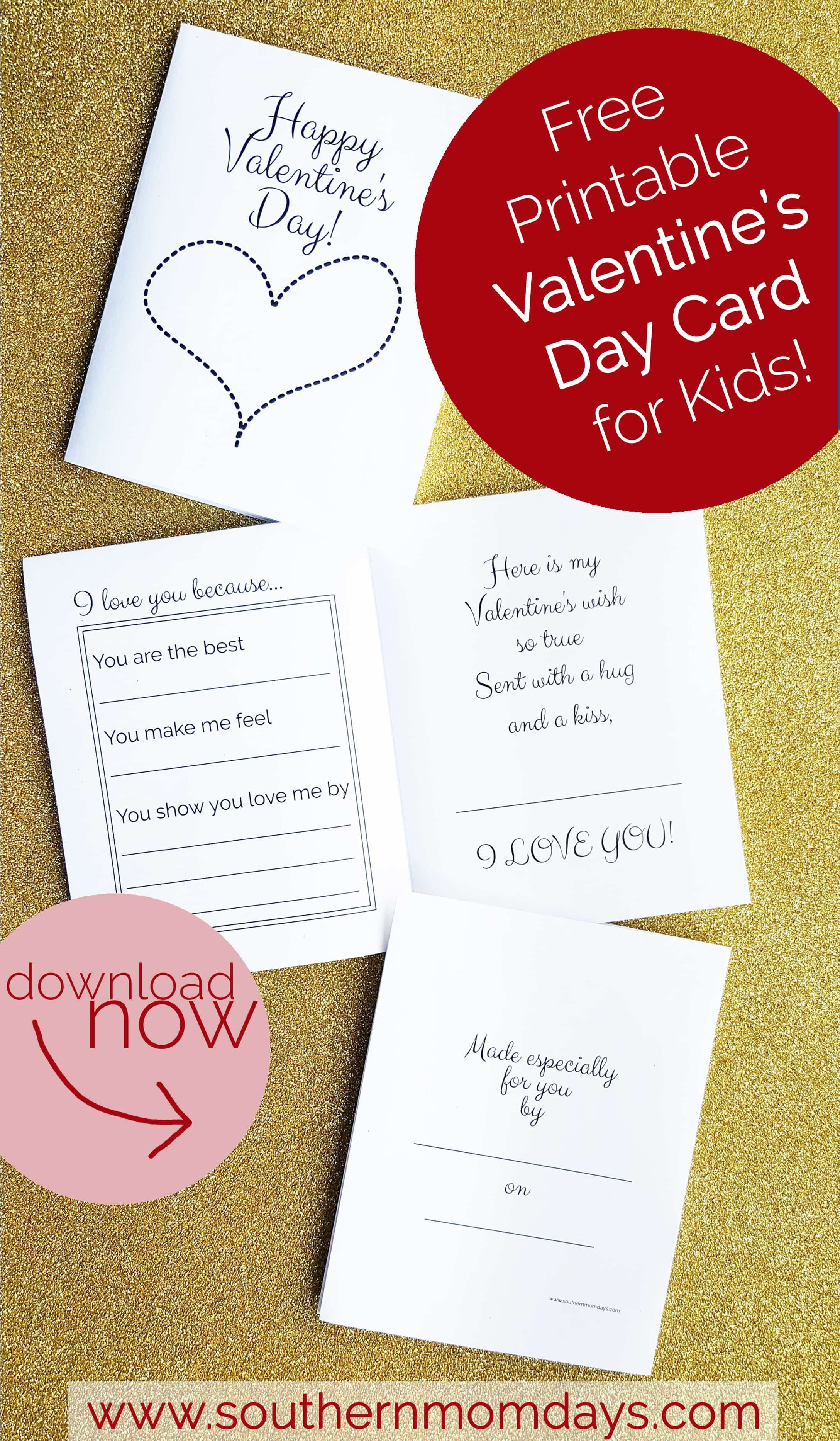 Free Printable: Valentine's Day Card For Kids | Moms Helping Moms - Free Printable Valentines Day Cards For Mom And Dad