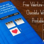 Free Printable   Valentine's Day Chocolate Bar Wrapper . Tardis . Dr   Free Printable Doctor Who Valentines