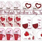 Free Printable Valentine's Day Gift Tags: Multiple Designs & Sizes   Free Printable Heart Labels