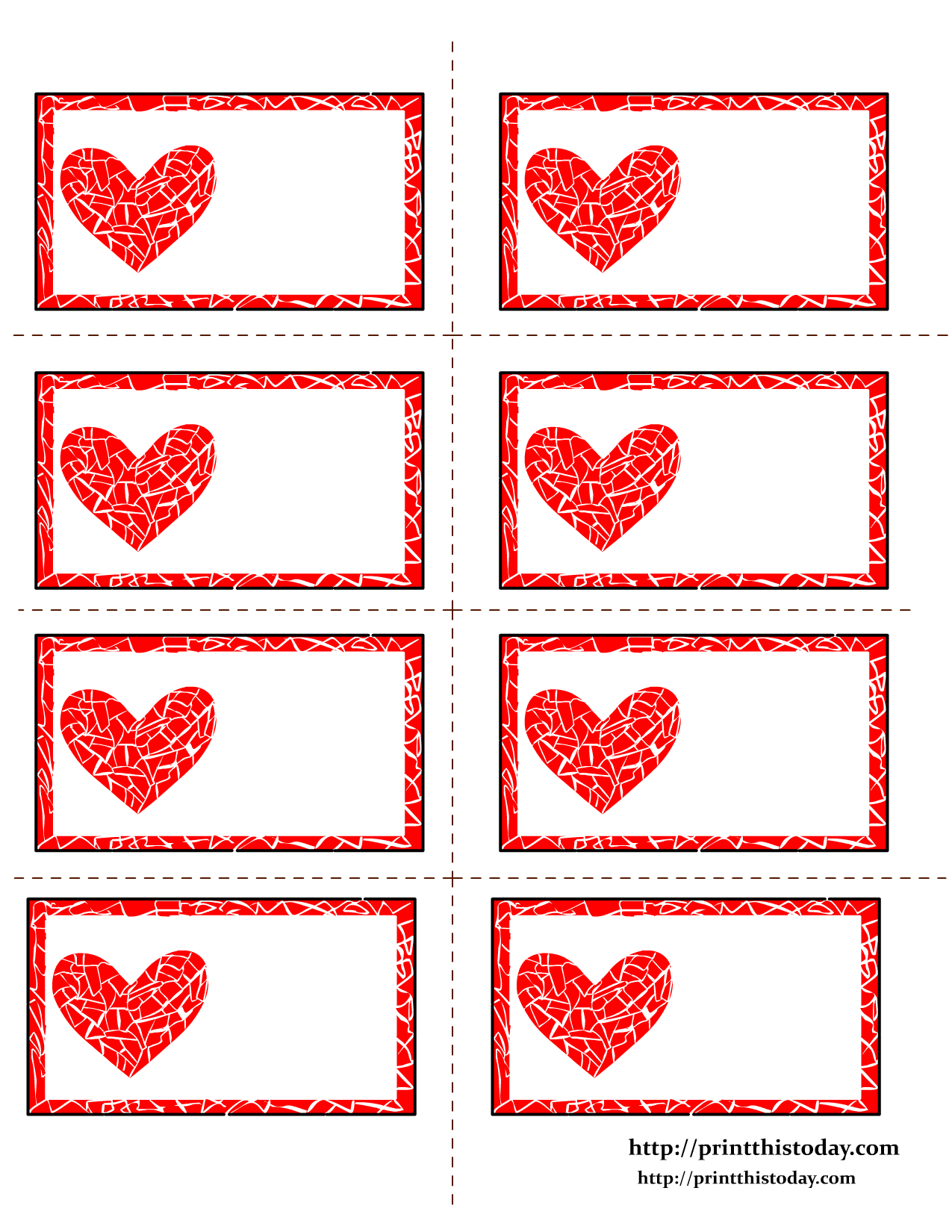Free Printable Valentines Day Labelsann | Sunday School - Free Printable Heart Labels