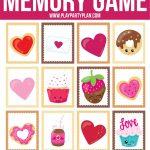 Free Printable Valentine's Day Memory Games For Kids   Play Party Plan   Free Printable Valentine Game