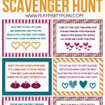 Free Printable Valentine's Day Scavenger Hunt Kids & Adults Will Love   Free Printable Valentine Games For Adults