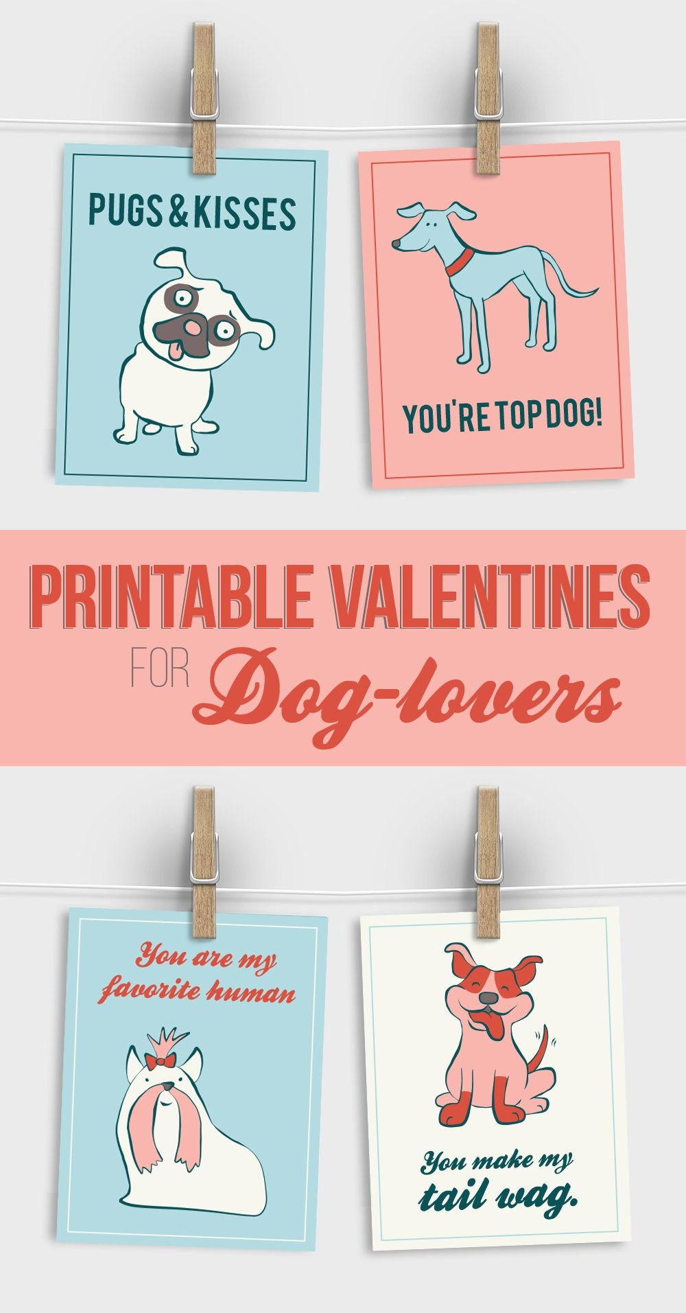 Free Printable Valentines For Dog Lovers | Must Love Dogs | Dogs - Free Printable Dog Valentines Day Cards