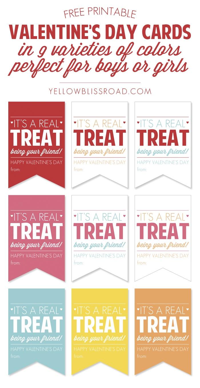 Free Printable Valentine's Treat Tags - Yellow Bliss Road - Free Printable Valentine Tags