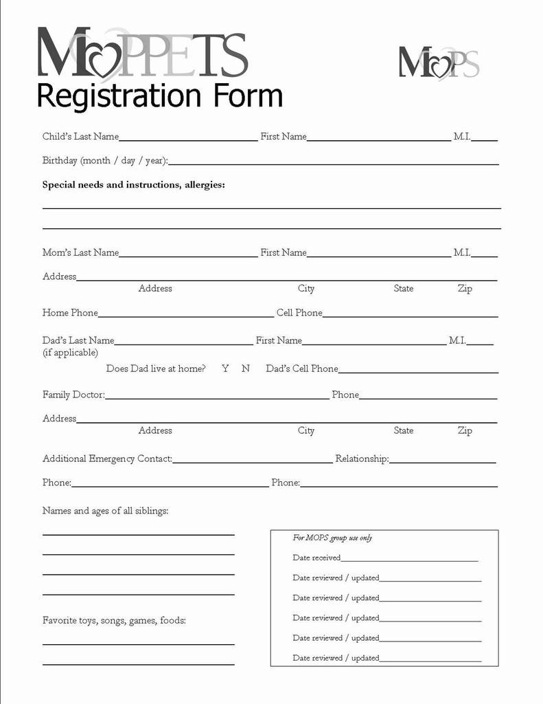Free Printable Vbs Registration Forms Lovely Attendee Registration - Free Printable Vbs Registration Forms