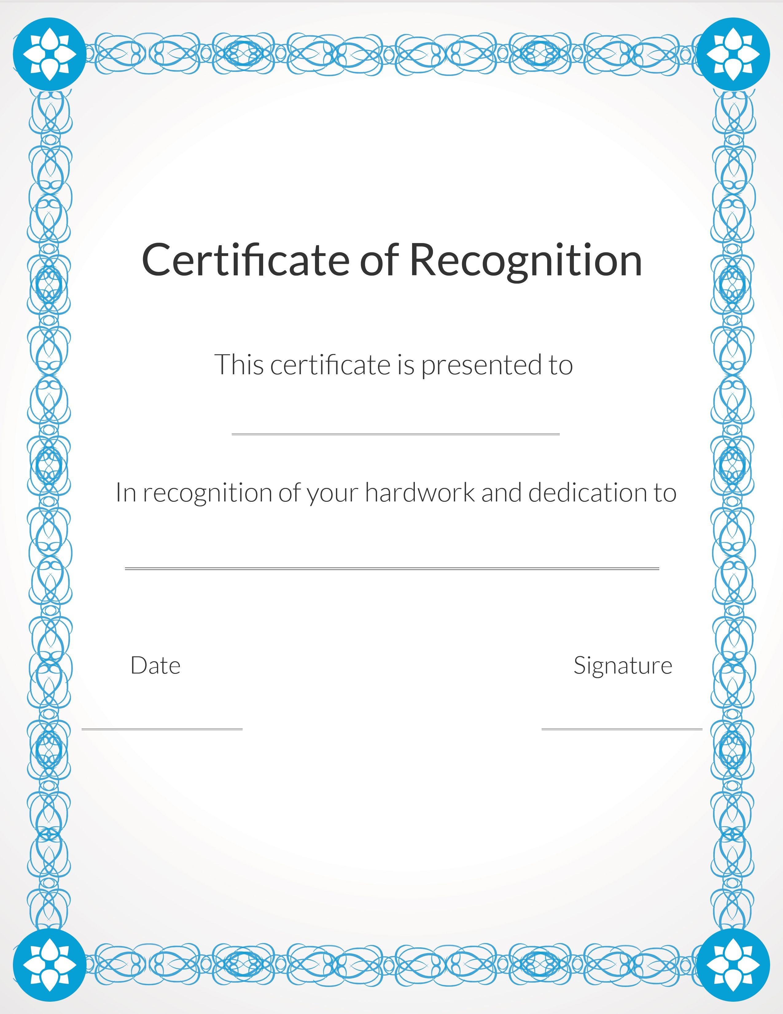 Free, Printable Volunteer Recognition And Appreciation Certificates - Free Printable Certificate Of Appreciation