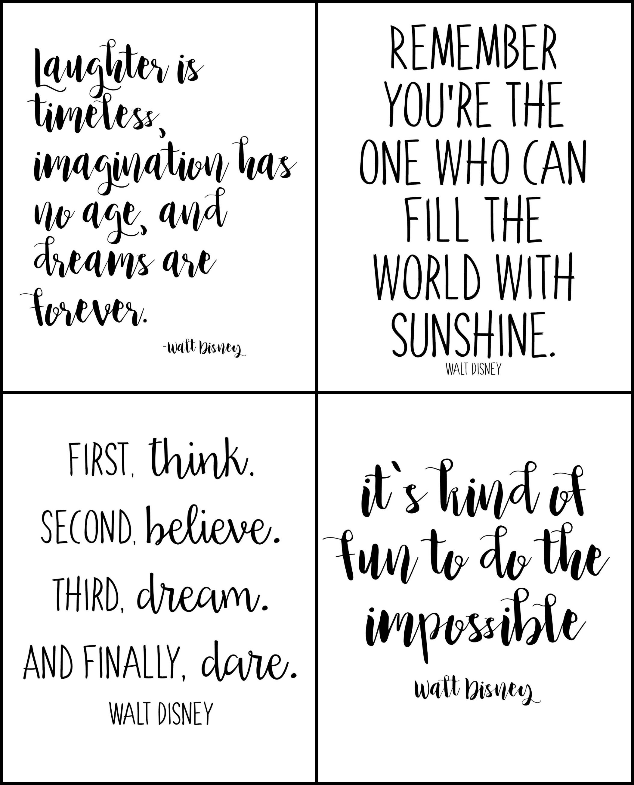 Free Printable Walt Disney Quotes   Disney   Walt Disney Quotes - Free Printable Quotes