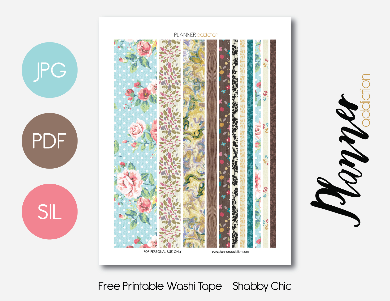 Free Printable Washi Tape – Planner Addiction - Free Printable Washi Tape