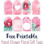 Free Printable Watercolor Flower Gift Tags! Hand Drawn Art Turned   Free Printable Floral Labels