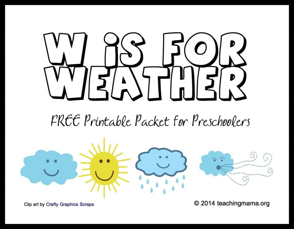 Free Printable Weather Activities For Kids   True Aim - Free Printable Weather Chart For Preschool