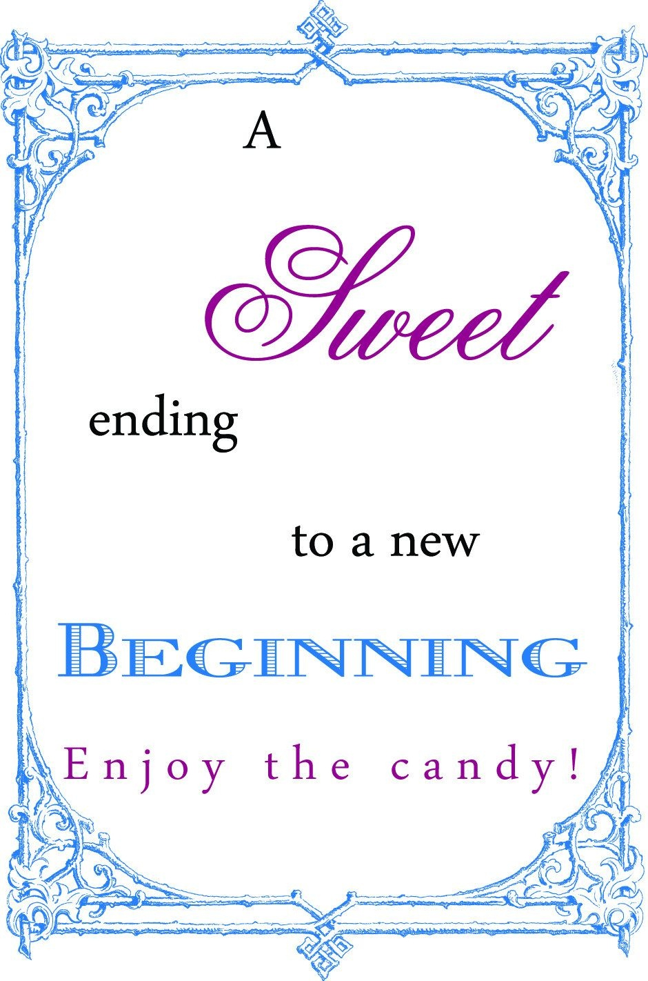 Free Printable Wedding Candy Buffet Signs   Wedding   Candy Bar - Free Printable Candy Table Labels