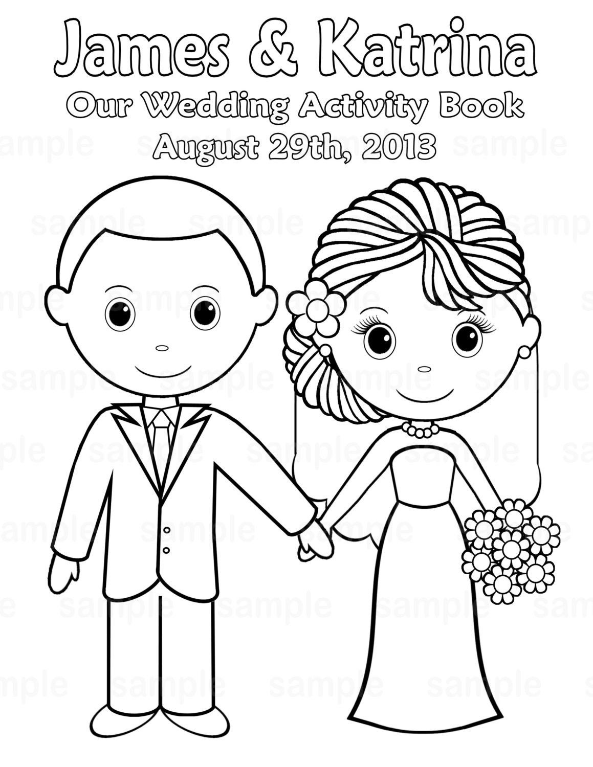 Free Printable Wedding Coloring Pages | Free Printable Wedding - Free Printable Personalized Wedding Coloring Book