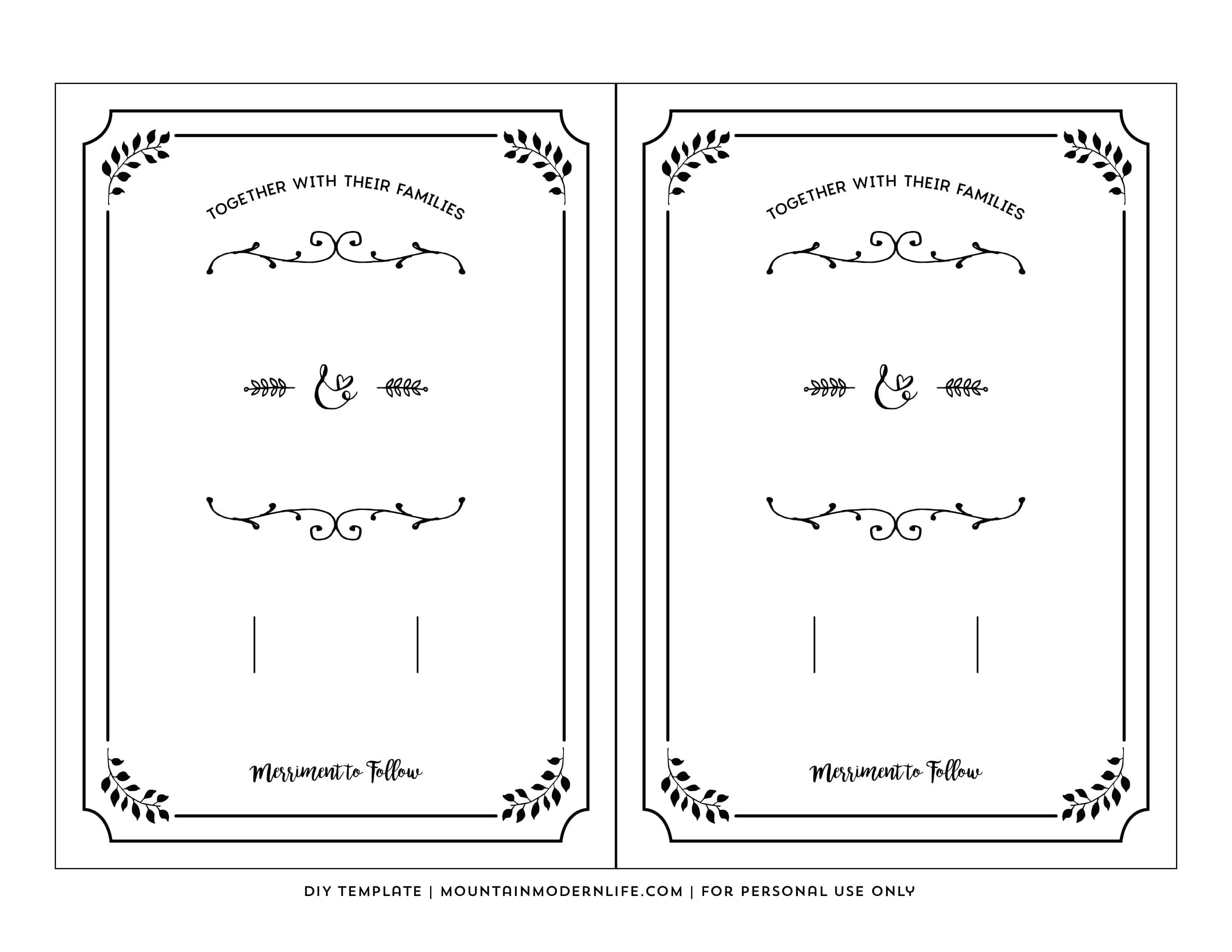 Free Printable Wedding Invitation Template - Free Printable Invitation Templates