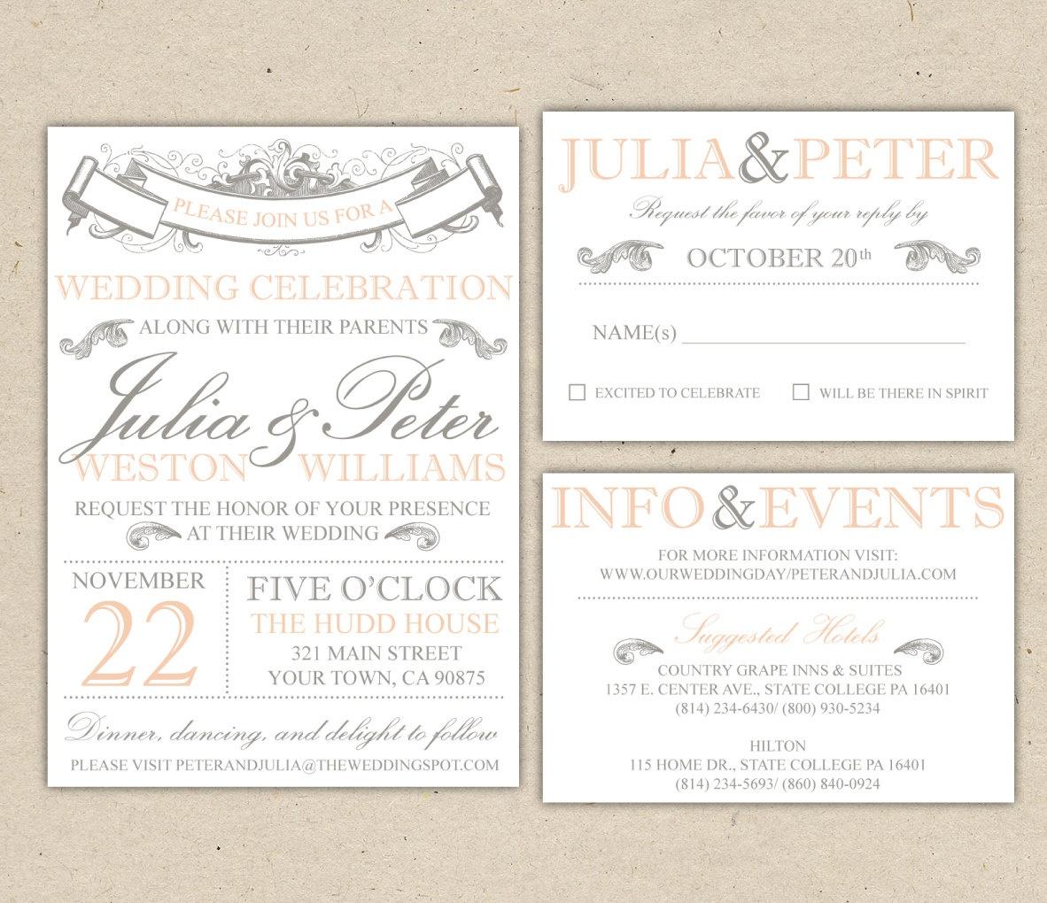 Free Printable Wedding Invitation Templates For Word Wedding - Free Printable Wedding Invitations