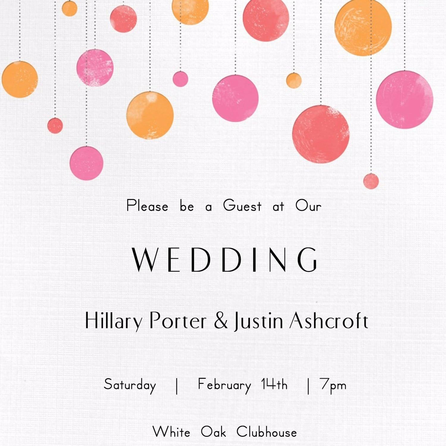 Free Printable Wedding Invitations | Popsugar Smart Living - Free Printable Halloween Wedding Invitations