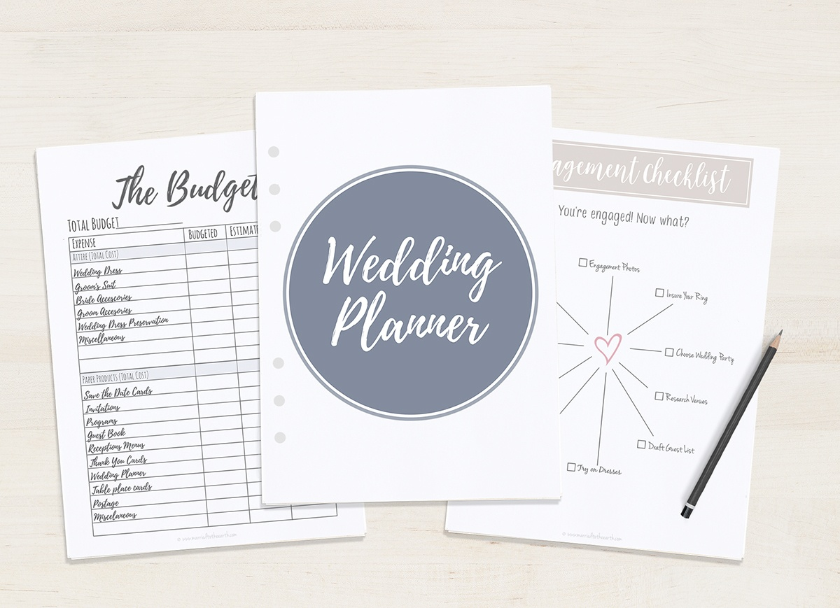 Free Printable Wedding Planner - A5 & Letter - Free Wedding Binder Printables