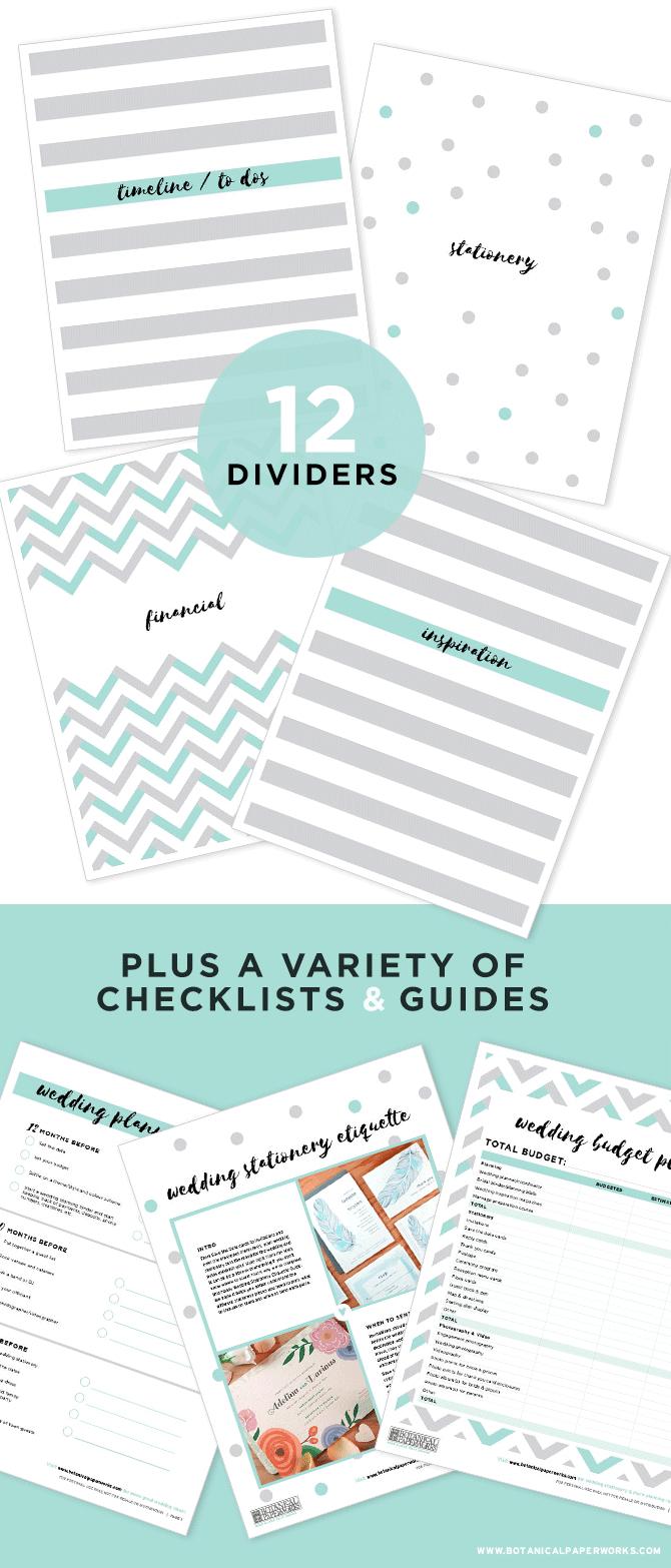 Free Printable Wedding Planning Binder | Blog | Botanical Paperworks - Free Wedding Binder Printables