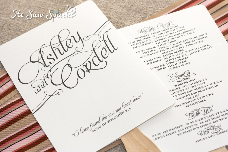 Free Printable Wedding Programs Templates   Request A Custom Order - Free Printable Fan Wedding Programs