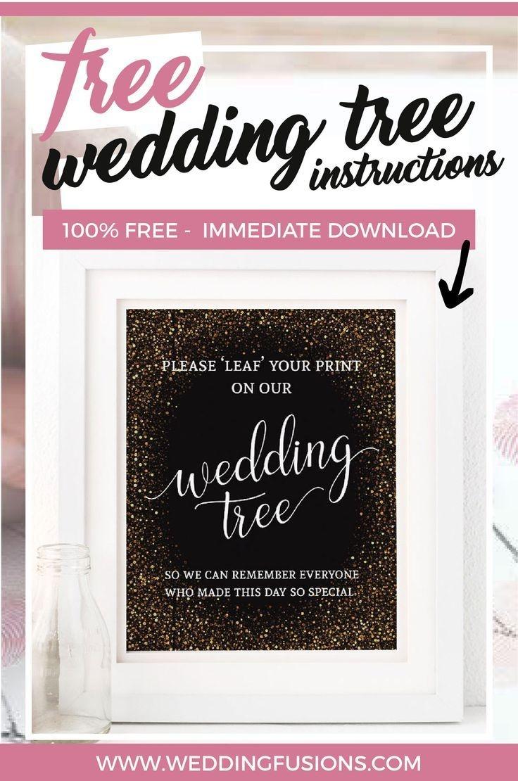 Free Printable Wedding Tree Instructions | Crafts | Wedding Posters - Free Printable Wedding Decorations